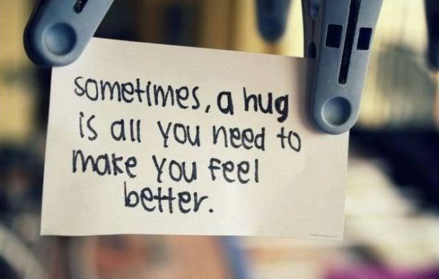 a hug is all you need